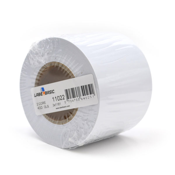 "3"" Continuous Glossy Inkjet Label Roll"
