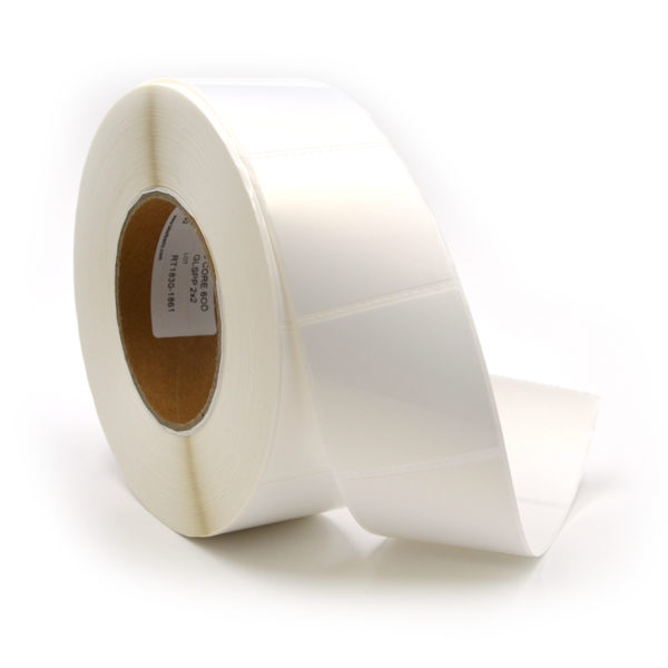 "2"" x 2"" Glossy Polypropylene Inkjet Label Roll"