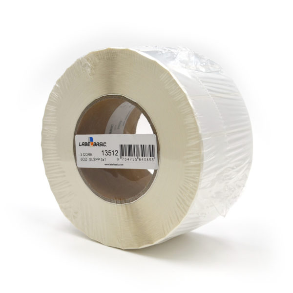 "3"" x 1"" Glossy Polypropylene Inkjet Label Roll"