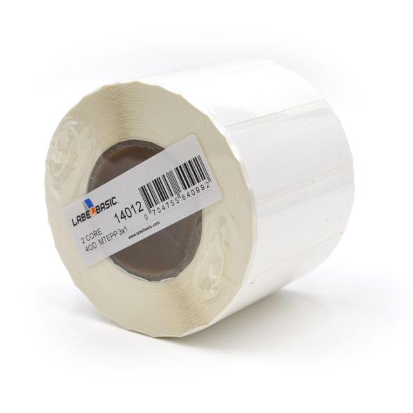"3"" x 1"" Matte Polypropylene Inkjet Label Roll"