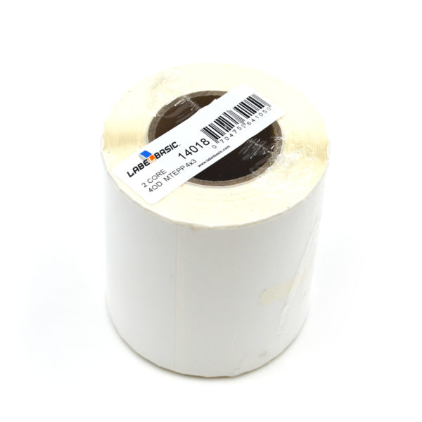 "4"" x 3"" Matte Polypropylene Inkjet Label Roll"