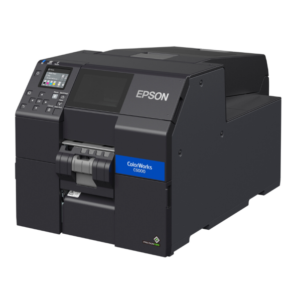 Side view of Epson ColorWorks CW-6000P at LabelBasic