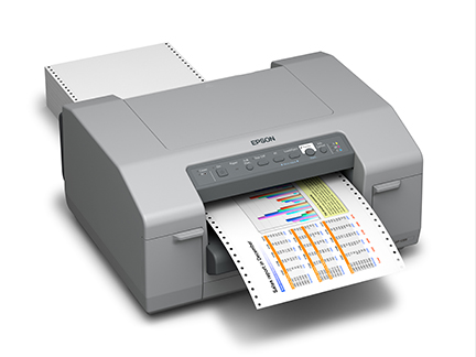 Right View Epson C-831 Drum Label Printer at LabelBasic