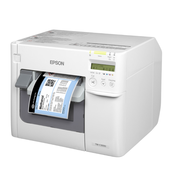 Epson TM-C3500 left view at LabelBasic