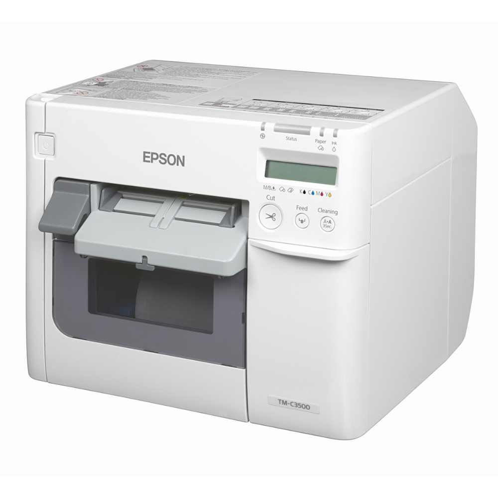It is a photo of Insane Colorworks Securcolor C3400 Inkjet Label Printer