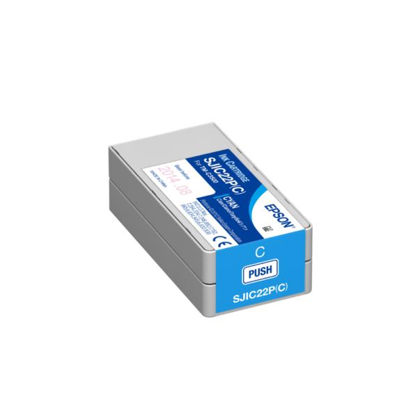 Epson TM-C3500 Color Label Printer Ink Cyan SJIC22P
